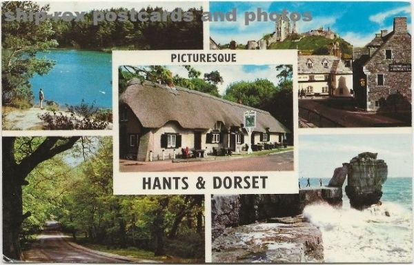 Hants & Dorset multi-view postcard (b)
